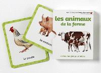 Les animaux de la ferme : cartes-imagier pour bébés