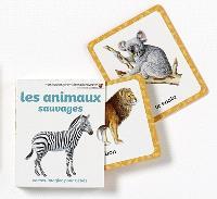 Les animaux sauvages : cartes-imagier pour bébés