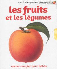 Les fruits et les légumes : cartes-imagier pour bébés