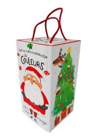 Livre avec cubes de construction : ma tour de Noël,  les nombres, les couleurs