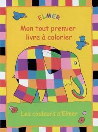 Mon tout premier livre à colorier Elmer : les couleurs d'Elmer