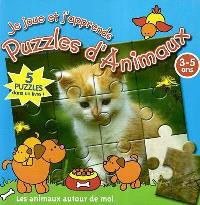 Je joue et j'apprends avec des puzzles d'animaux, Les animaux autour de moi