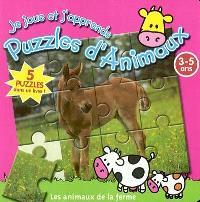 Je joue et j'apprends avec des puzzles d'animaux, Les animaux de la ferme