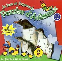 Je joue et j'apprends avec des puzzles d'animaux, Les familles des animaux