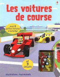 Les voitures de course : avec 2 petites voitures à remonter et 3 circuits