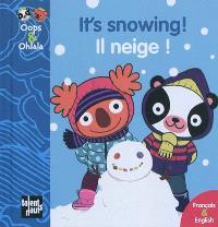 It's snowing ! = Il neige !