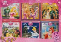 Disney princesse : 12 livres, histoires + coloriages