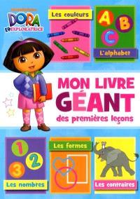 Dora, Mon livre géant  : premières leçons