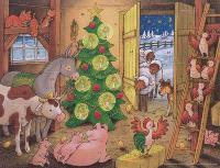 Joyeux Noël à la ferme : calendrier de l'Avent