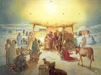 L'adoration des rois mages : calendrier de l'Avent