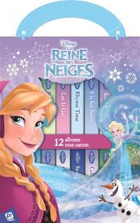 La reine des neiges : 12 livres avec Anna, Elsa et tous leurs amis : 12 albums tout-carton
