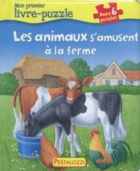 Les animaux s'amusent à la ferme