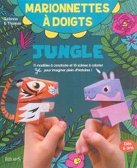 Jungle : 11 modèles à construire et 10 scènes à colorier pour imaginer plein d'histoires !