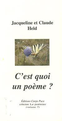 C'est quoi un poème ?