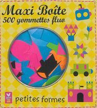 Maxi boîte 500 gommettes fluo : petites formes