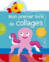 Mon premier livre de collages, 2-3 ans : pieuvre
