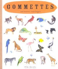 Animaux sauvages : gommettes