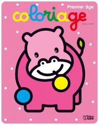 Coloriage premier âge : hippopotame