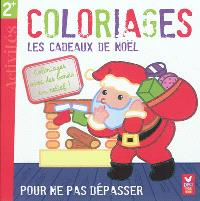 Coloriages, les cadeaux de Noël : pour ne pas dépasser : coloriages avec des bords en relief !