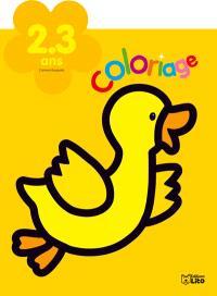 Le canard : coloriage : 2-3 ans