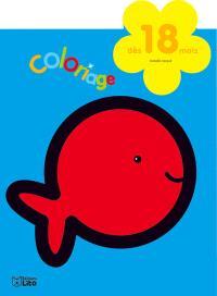 Le poisson rouge : coloriage : dès 18 mois