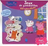 Peppa Pig : Peppa à l'école : jeux de gommettes, 100 autocollants