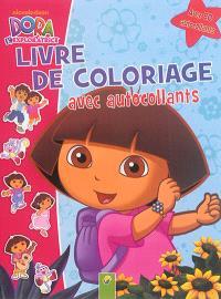 Dora l'exploratrice : livre de coloriage avec autocollants
