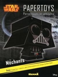 Star Wars papertoys : personnages et véhicules : les méchants