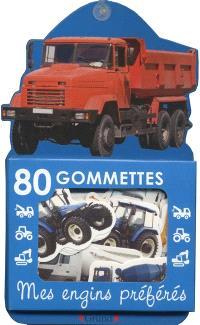 80 gommettes, mes engins préférés : bleu