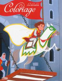 Coloriage les chevaliers : la fuite du chevalier