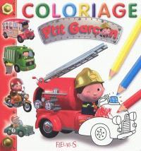 Coloriage p'tit garçon : rouge