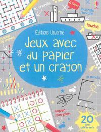 Jeux avec du papier et un crayon