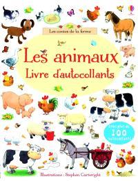 Les animaux : livre d'autocollants