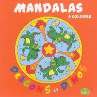 Mandalas à colorier : dragons et dinos