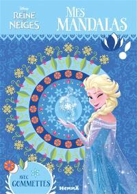 La reine des neiges : mes mandalas avec gommettes
