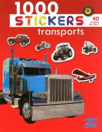 1.000 stickers transports (Fond rouge)