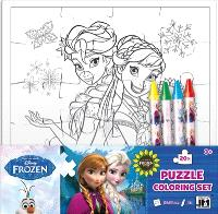 La reine des neiges : set puzzle à colorier
