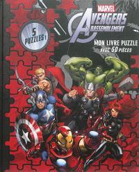 Marvel Avengers : rassemblement : mon livre puzzle avec 50 pièces