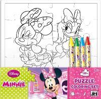 Minnie : set puzzle à colorier