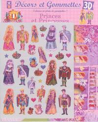 Décors et gommettes 3D : princes et princesses