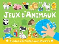 Jeux d'animaux : 6 livres d'activités avec stickers