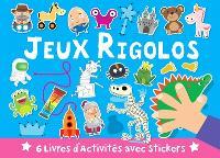 Jeux rigolos : 6 livres d'activités avec stickers