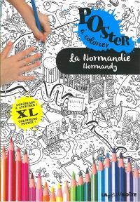 La Normandie : poster coloriage