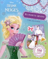 La reine des neiges : ma pochette créative : colle, crée et colorie