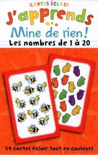 Les nombres de 1 à 20  : cartes éclair