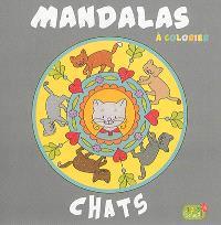 Mandalas à colorier : chats