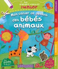 Mon cahier de dessins des bébés animaux