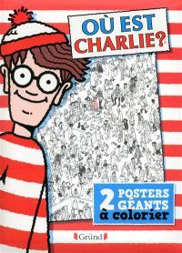Où est Charlie ? : 2 posters géants à colorier
