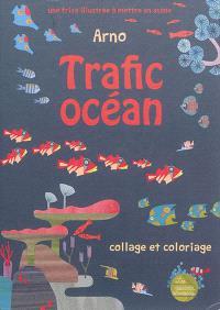 Trafic océan : une frise illustrée à mettre en scène : collage et coloriage
