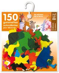 150 gommettes autocollantes pour découvrir : les animaux de la ferme
